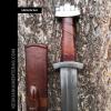 nahka scabbard keskiaiakainen miekka f369