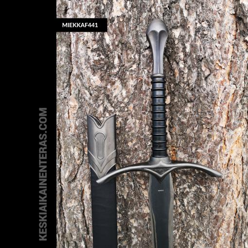 keskiaikainen miekka musta f441